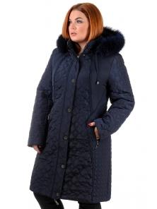 """Женское зимнее пальто """"Марта"""", арт.№227, 52-58 т.синий"""