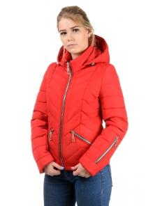 """Демисезонная куртка """"Элина"""", арт.№195, р-ры 42-50 красный"""
