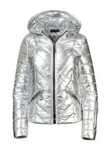 """Демисезонная куртка """"Элина"""", арт.№205, 42-50 серебро"""