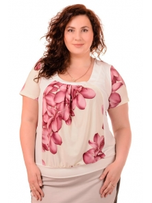 "Женская футболка ""Элиза"", размеры 52-58, арт.208.23"