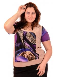 "Женская футболка ""Элиза"", размеры 52-58, арт.208.27"