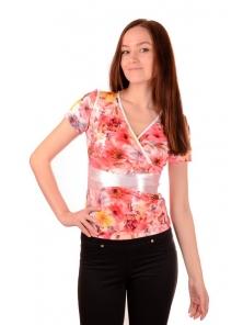 """Летняя футболка """"Лейла"""", размеры 44-48, арт.211.4"""