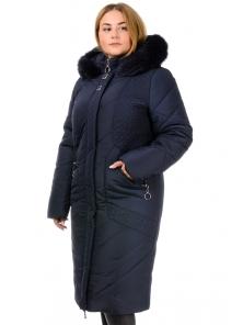 Зимнее пальто «Люсия», р-ры 50-58, №215 т.синий