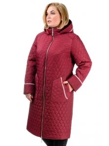 Пальто зимнее «Юта», р-ры 50-60, №217 бордо