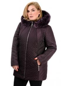 Зимняя куртка «Кимберли», р-ры 50-58, №220 баклажан