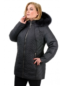 Зимняя куртка «Кимберли», р-ры 50-58, №220 графит
