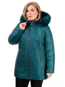 Зимняя куртка «Кимберли», р-ры 50-58, №220 зеленый