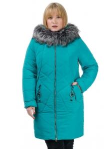 Женская зимняя куртка «Ирма», р-ры 46-54, №222 бирюза