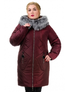 Женская зимняя куртка «Ирма», р-ры 46-54, №222 бордо