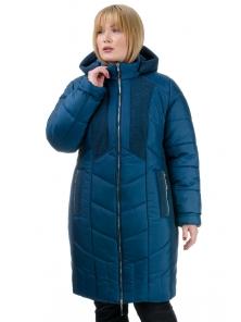 Зимнее пальто «Иллиада», р-ры 50-60, №224 морская волна