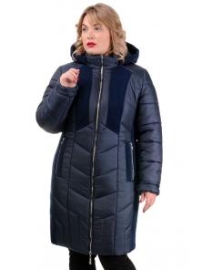 Зимнее пальто «Иллиада», р-ры 50-60, №224 синий