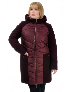 Зимняя куртка «Ингрида», р-ры 48-56, №225 бордо