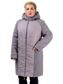 Зимняя куртка «Ингрида», р-ры 48-56, №225 пудра