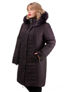 """Женское зимнее пальто """"Марта"""", арт.№227, 52-58 баклажан"""