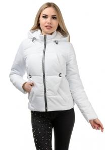 Демисезонная куртка «Каисса»,р-ры 42-50, №229 белый