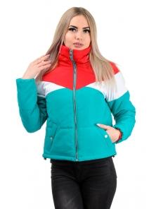 Демисезонная куртка «Яника»,р-ры 42-48, №232 бирюза