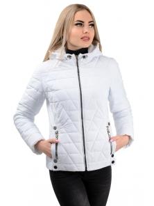 Демисезонная куртка «Клер»,р-ры 42-48, №233 белый