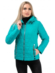 Демисезонная куртка «Клер»,р-ры 42-48, №233 бирюза