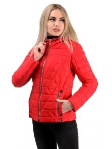 Демисезонная куртка «Клер»,р-ры 42-48, №233 красный