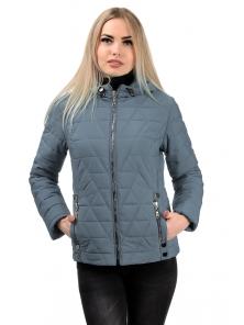 Демисезонная куртка «Клер»,р-ры 42-48, №233 серый