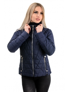 Демисезонная куртка «Клер»,р-ры 42-48, №233 т.синий