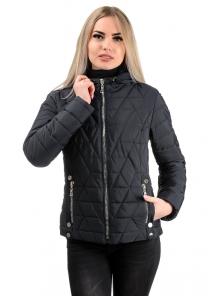 Демисезонная куртка «Клер»,р-ры 42-48, №233 черный
