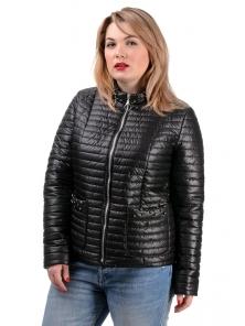 Демисезонная куртка «Вива», р.50-56, арт.251_черный