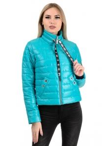 Демисезонная куртка «Илва», р-ры 42-48, №238 бирюза