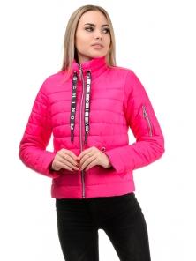 Демисезонная куртка «Илва», р-ры 42-48, №238 малина