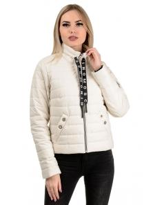 Демисезонная куртка «Илва», р-ры 42-48, №238 молоко