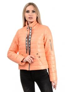 Демисезонная куртка «Илва», р-ры 42-48, №238 персик