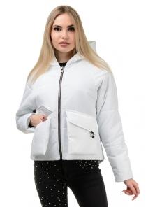 Демисезонная куртка «Юва», р-ры 42-48, №240 белый