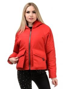 Демисезонная куртка «Юва», р-ры 42-48, №240 красный