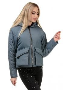Демисезонная куртка «Юва», р-ры 42-48, №240 серый