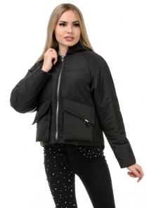 Демисезонная куртка «Юва», р-ры 42-48, №240 черный