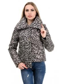 Демисезонная куртка «Далия принт»,р-ры 42-48, №245 рысь