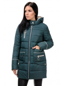 Зимняя куртка «Пэм», 42-48, арт.248 зеленый