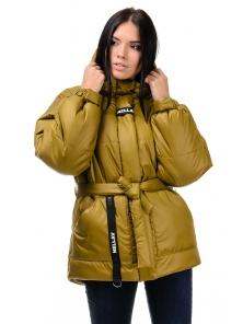 Зимняя куртка «Джемма», 44-50, арт.249 горчица