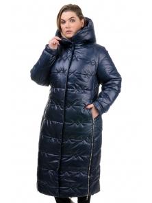 Пальто «Ася»,52-58, арт.250 синий