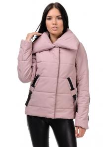 Демисезонная куртка «Люси», 42-48, арт.254 пудра