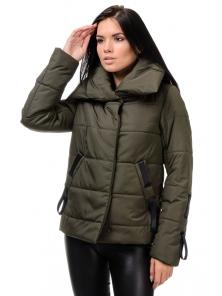 Демисезонная куртка «Люси», 42-48, арт.254 хаки