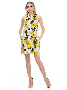 """Платье """"Медина"""", размеры S-L, арт.267 белый лимон"""