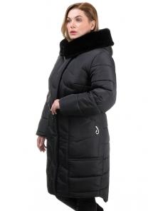 Пальто «Евро» батал, 62-70, арт.268 черный