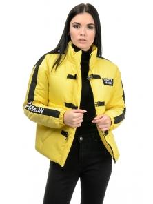 Куртка демисезонная «Каролина», 42-46, арт.281 желтый
