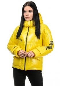 Куртка демисезонная «Эльза», 42-48, арт.283 желтый