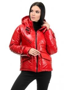 Куртка демисезонная «Эльза», 42-48, арт.283 красный