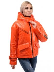 Куртка демисезонная «Эльза», 42-48, арт.283 оранжевый