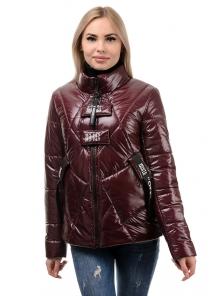 Куртка демисезонная «Ромби», 44-50, арт.284 бордо