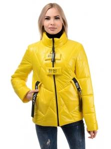 Куртка демисезонная «Ромби», 44-50, арт.284 желтый