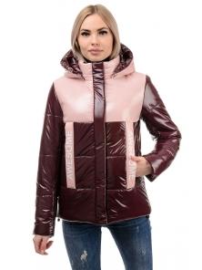 Демисезонная куртка «Хелен», 42-48, арт.288 бордо